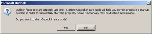 Start in safe mode?