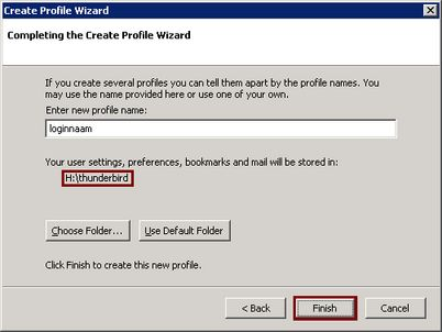 "Finishing - ""Create Profile Wizard"""