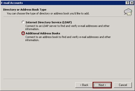 View or change existing directories or address books